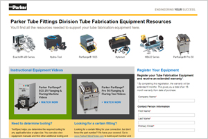 Tube Fabrication Equipment Resources from Parker Tube Fittings Division